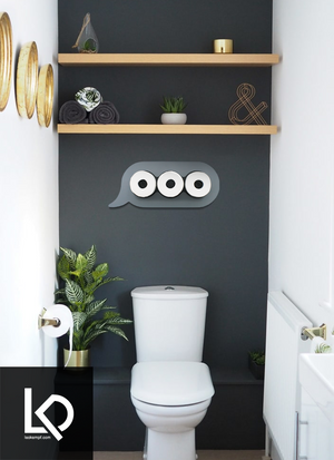 Texting Dots Toilet Paper Storage Art