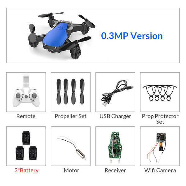 Mini Drone With/Without HD Camera High Hold Mode
