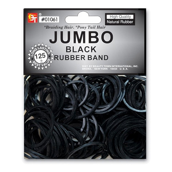 BEAUTY TOWN HIGH-QUALITY JUMBO RUBBER BAND 125PCS - DOZEN