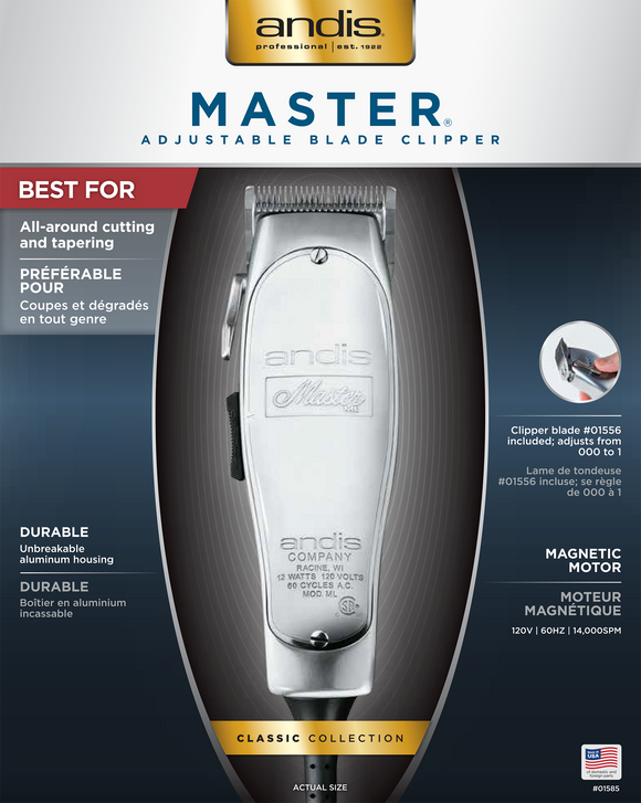 Andis Master Clipper #01557 - Palms Fashion