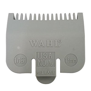 "Wahl Color-Coded Clipper Guide Attachment Grey #0.5 - 1/16"" (1.5mm) #3137-101 - Palms Fashion"