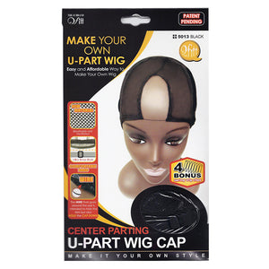 M&M Center Parting U-Part Wig Cap Black #5013 - Dozen - Palms Fashion
