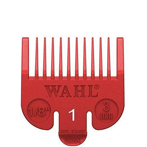 "Wahl Color-Coded Clipper Guide Attachment Red #1 - 1/8"" (3.0mm) #3114-603 - Palms Fashion"