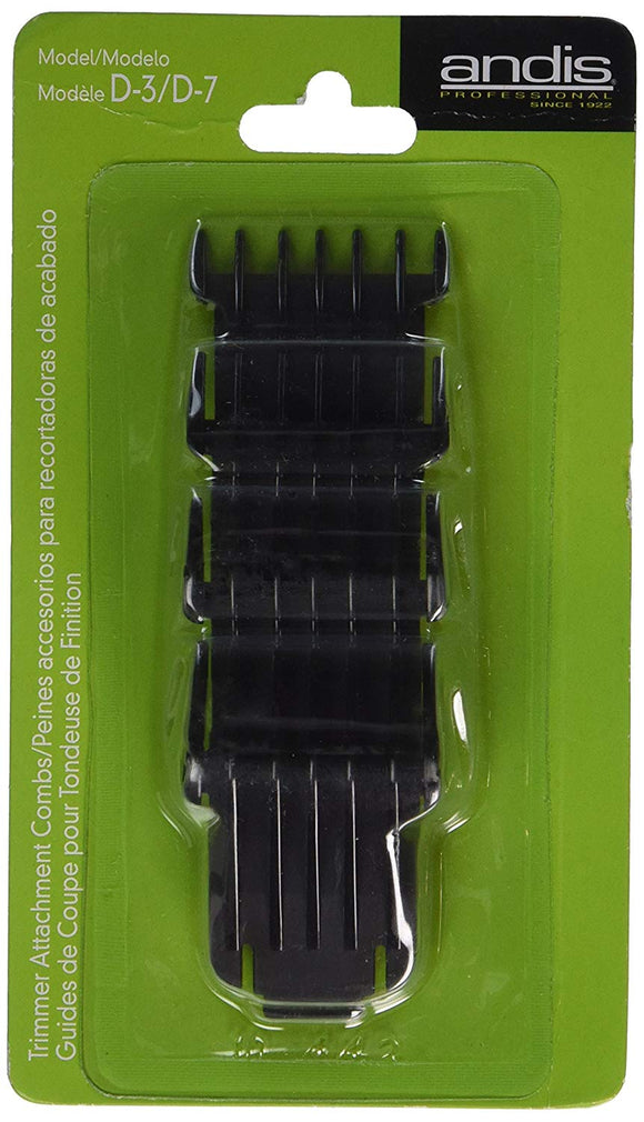 Andis Trimmer Attachment Combs For Model D-3/D-7 - 4 Piece - Palms Fashion Inc.