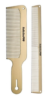 BaByliss PRO GoldFX 2-Piece Metal Comb Set - Palms Fashion