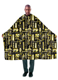 Betty Dain Barber Apparel Limited Edition Vintage Gold Styling Cape - Palms Fashion