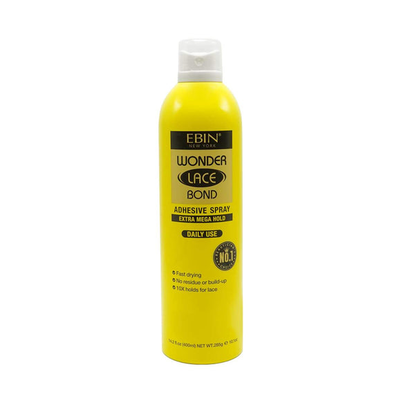 EBIN WONDER LACE BOND WIG ADHESIVE SPRAY - EXTRA MEGA HOLD - 2 SIZE - Palms Fashion Inc.