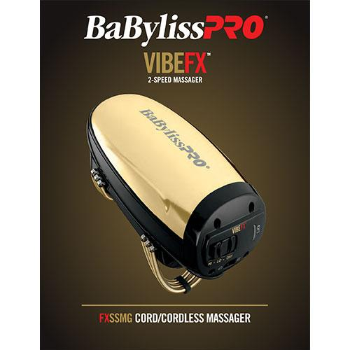 BaByliss VibeFX Cordless Massager Gold # FXSSMG - Palms Fashion Inc.