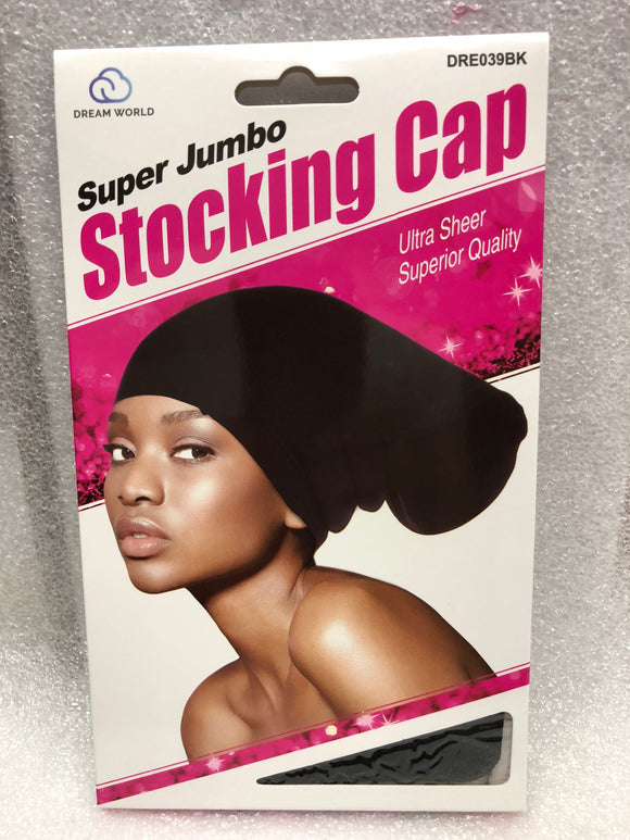 Dream Super Jumbo Stocking Cap #039BK - Dozen Pack - Palms Fashion