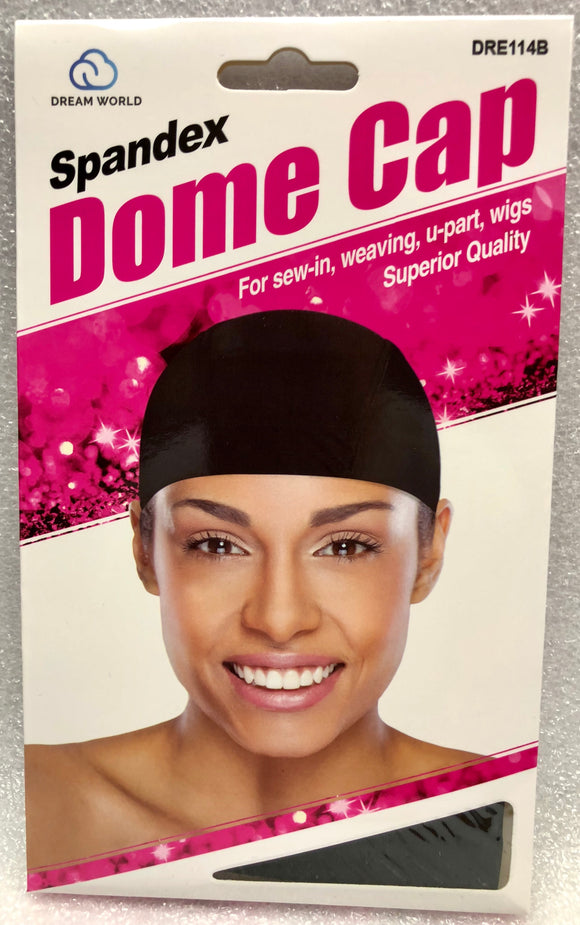 Dream Dome Cap for Woman Black #114B - Dozen Pack - Palms Fashion Inc.