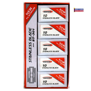 Dorco STP-301 Red Double-Edge Razor Blades - 100 Blades - Palms Fashion Inc.