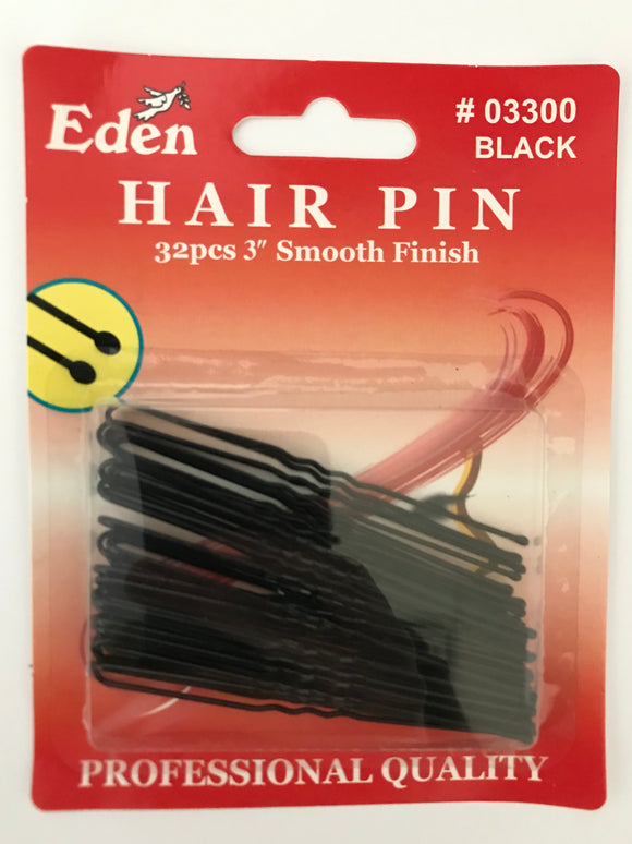 Eden Hair Pin Black - Dozen #03300 - Palms Fashion