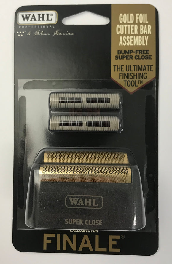 Wahl Professional 5-Star Series - Replacement Foil and Cutter Bar Assembly - Black & Gold #7043 - Palms Fashion Inc.