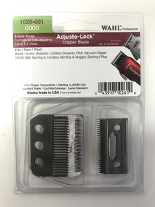 Wahl Professional 3-Hole Adjusto-Lock Clipper Blade 0000 1026-001 - Palms Fashion