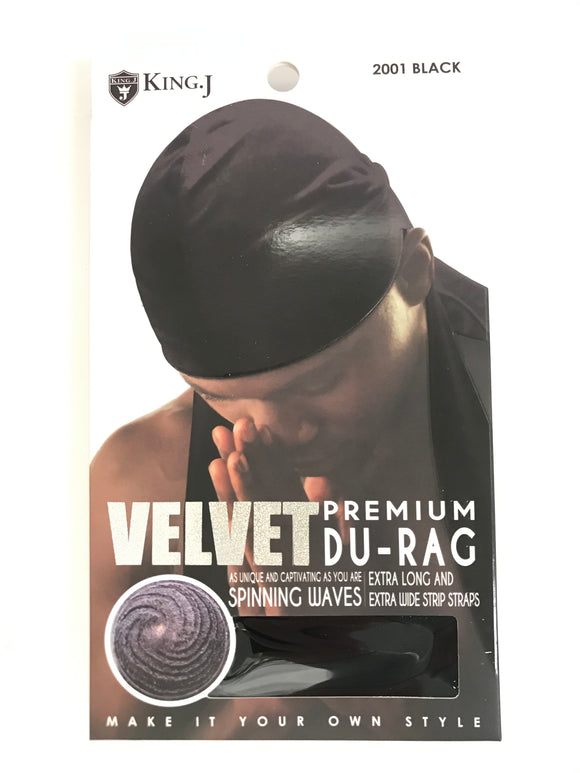 King. J Velvet Premium Du-Rag - Dozen - Palms Fashion