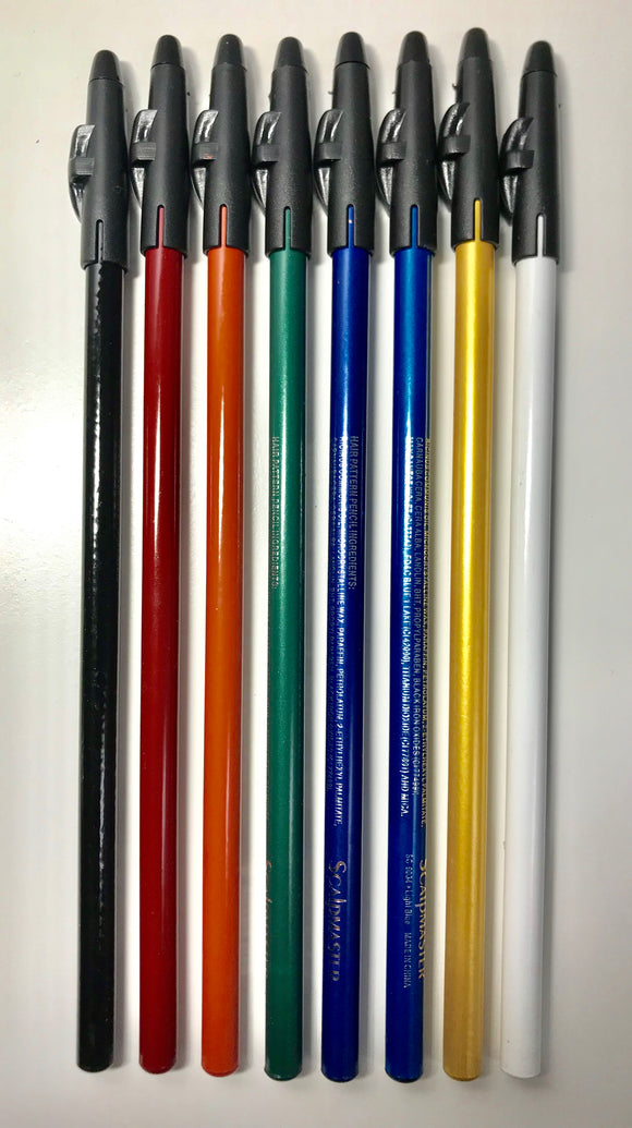 Scalpmaster Hair design Pencils #SC-9034 - 8-Pack - Palms Fashion
