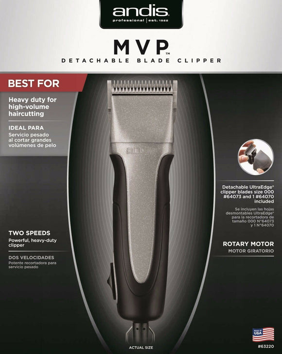 Andis Professional MVP 2-Speed Hair Clipper with Detachable Blade #63220 - Palms Fashion