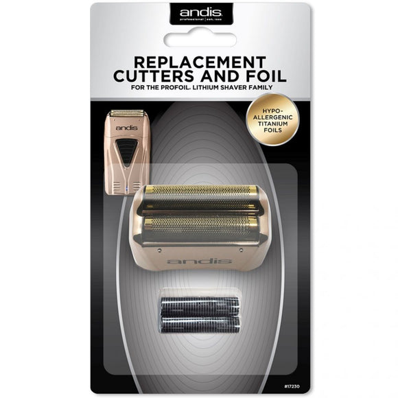 Andis Replacement Cutters & Foil - Copper # 17230