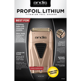Andis Copper ProFoil Lithium Shaver#17220 (Dual Voltage Charger)