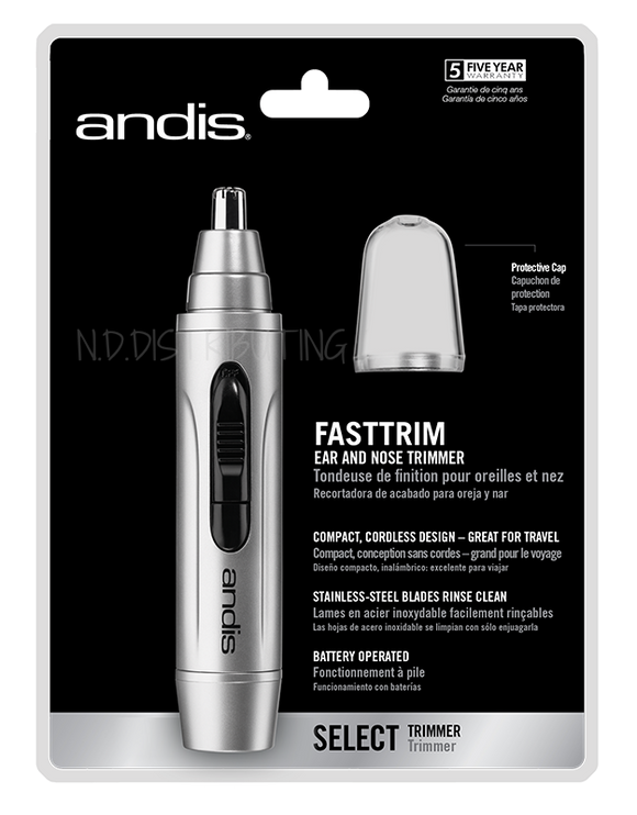Andis FastTrim - Personal Trimmer for Nose, Ears & Eyebrows #13540 - Palms Fashion Inc.