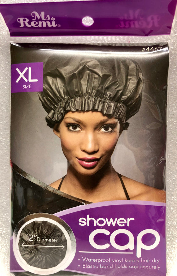 Annie Ms Remi Shower Cap Black XL #4467- Dozen Pack - Palms Fashion Inc.