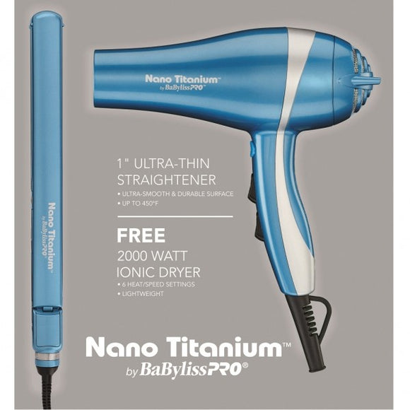 BABYLISS PRO NANO TITANIUM DRYER COMBO SPECIAL! # BABNTPP15 - Palms Fashion
