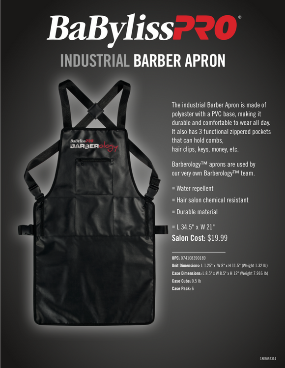 BaBylissPro Barberology™ Industrial Barber Apron #BBAPRON - Palms Fashion Inc.