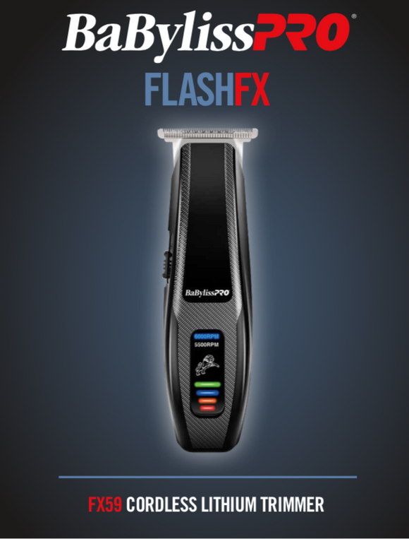 BaBylissPro FlashFX Cordless Lithium Trimmer #FX59 (Dual Voltage) - Palms Fashion