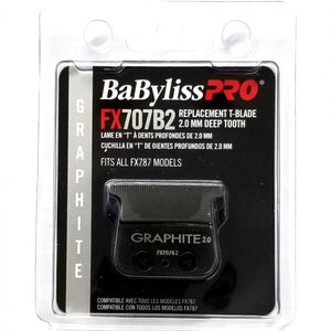 BABYLISS PRO GRAPHITE 2.0 MM DEEP TOOTH REPLACEMENT T-BLADE FITS ALL FX787 MODELS # FX707B2