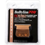 BaByliss Pro Rose Gold Titanium 2.0 mm Deep Tooth Replacement T-Blade Fits All FX787 Models # FX707RG2