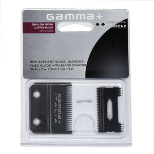 GAMMA CLIPPER REPLACEMENT BLADE - SHALLOW TOOTH (DOUBLE BLACK DIAMOND) - Palms Fashion Inc.