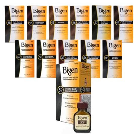 Bigen Permanent Powder Hair Color 0.21 oz - Dozen Pack - Palms Fashion