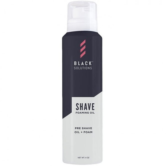 BLACK SOLUTIONS SHAVE FOAMING OIL 4 OZ - Palms Fashion
