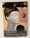 Tiffany Adjustable Stretch Weaving Cap #1045BK - Dozen Pack - Palms Fashion