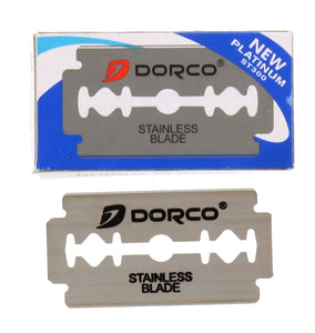 Dorco ST-300 Double Edge Stainless Razor Blade - 100 Blades - Palms Fashion