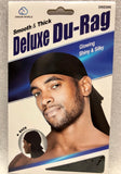 Dream Smooth and Thick Deluxe Du Rag Black #006 - Dozen Pack - Palms Fashion Inc.