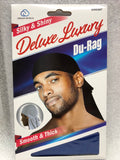 Dream Silky and Shiny Deluxe Du-Rag Black #007 - Dozen Pack - Palms Fashion