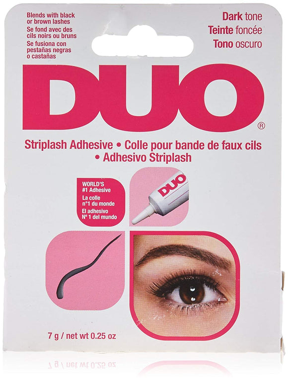 DUO Strip Lash Adhesive Dark, for strip  eyelash, 0.25 oz - 6 pack - Palms Fashion
