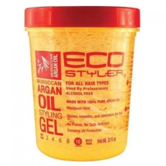 ECO STYLER MORROCAN ARGAN OIL STYLING GEL 32 OZ - Palms Fashion Inc.