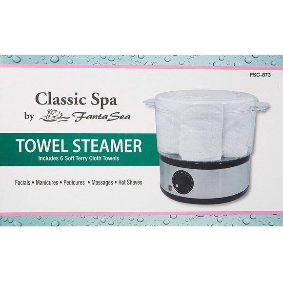 FANTA SEA TOWEL STEAMER INCLUDES 6 SOFT TERRY CLOTH TOWELS # FSC-873