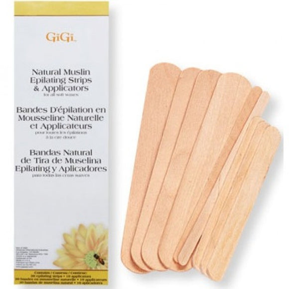 GIGI NATURAL MUSLIN EPILATING STRIPS & APPLICATORS # 0680 - Palms Fashion