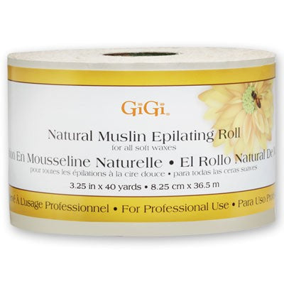GIGI NATURAL MUSLIN EPILATING ROLL - 3.25 INCH X 40 YARDS #0620 - Palms Fashion Inc.