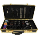HairArt Barber Case, Barber Kit Tool Case Gold and Black