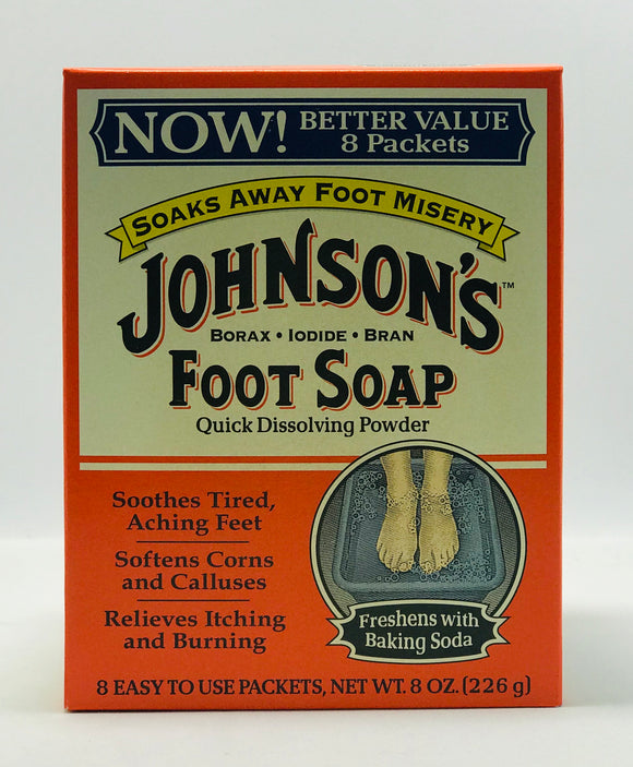Johnson's Foot Soap Quick Dissolving Powder 8oz - Palms Fashion