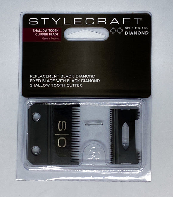 STYLECRAFT REPLACEMENT CLIPPER BLADE - SHALLOW TOOTH (DOUBLE BLACK DIAMOND)
