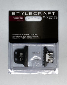 STYLECRAFT - SHALLOW TOOTH TRIMMER BLADE (DOUBLE BLACK DIAMOND) - Palms Fashion Inc.
