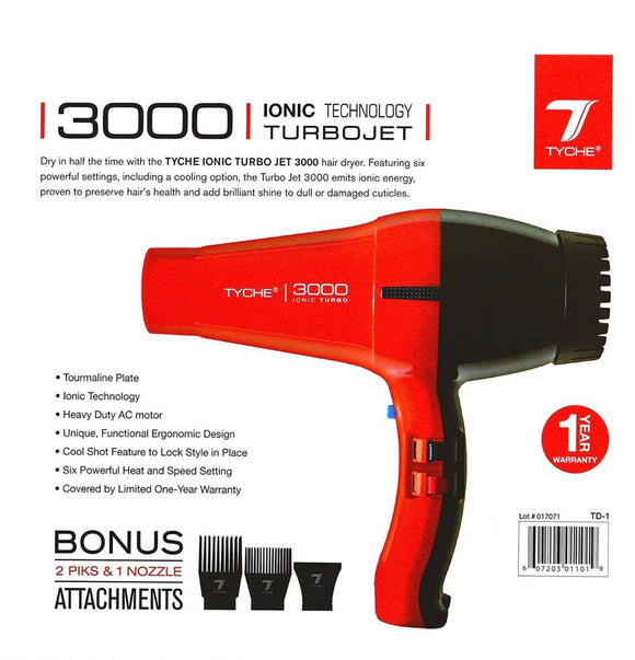 Tyche Turbojet 3000 Professional Ionic Ceramic Hair Dryer - Palms Fashion