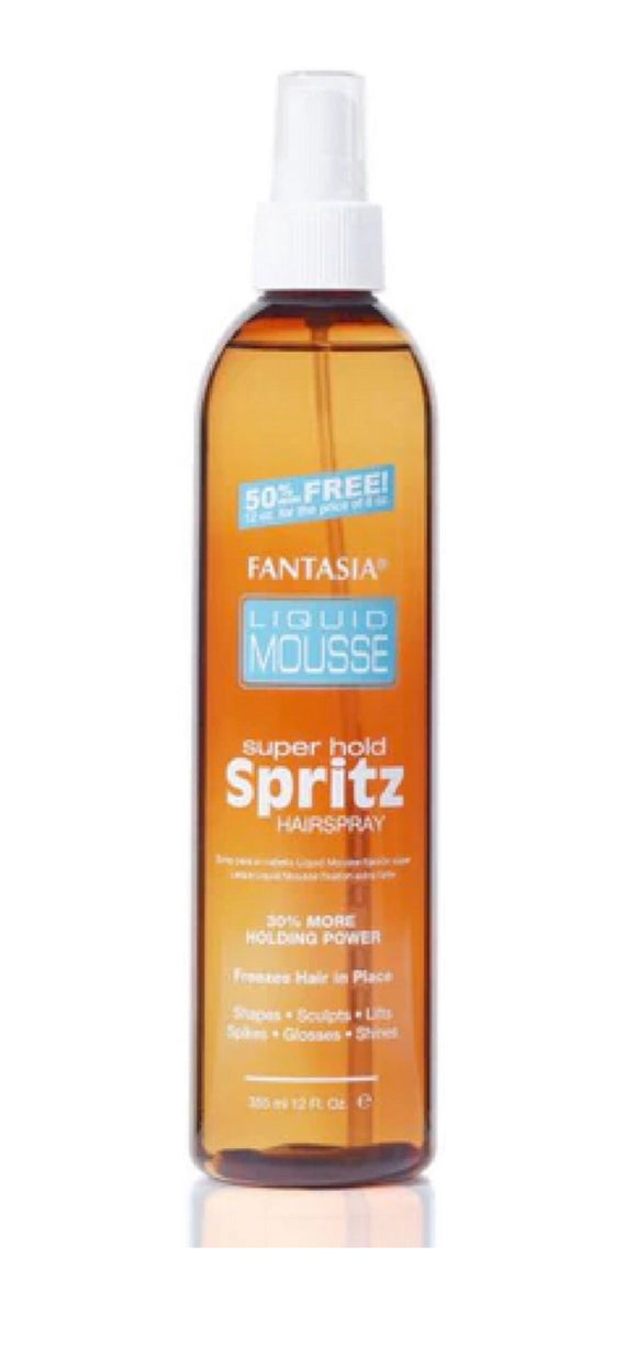 Fantasia Liquid Mousse Super Hold Spritz 12oz - Palms Fashion