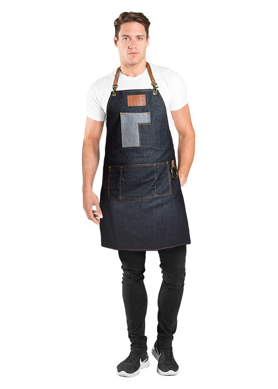 BETTY DAIN BROOKLYN DENIM BARBER APRON - Palms Fashion