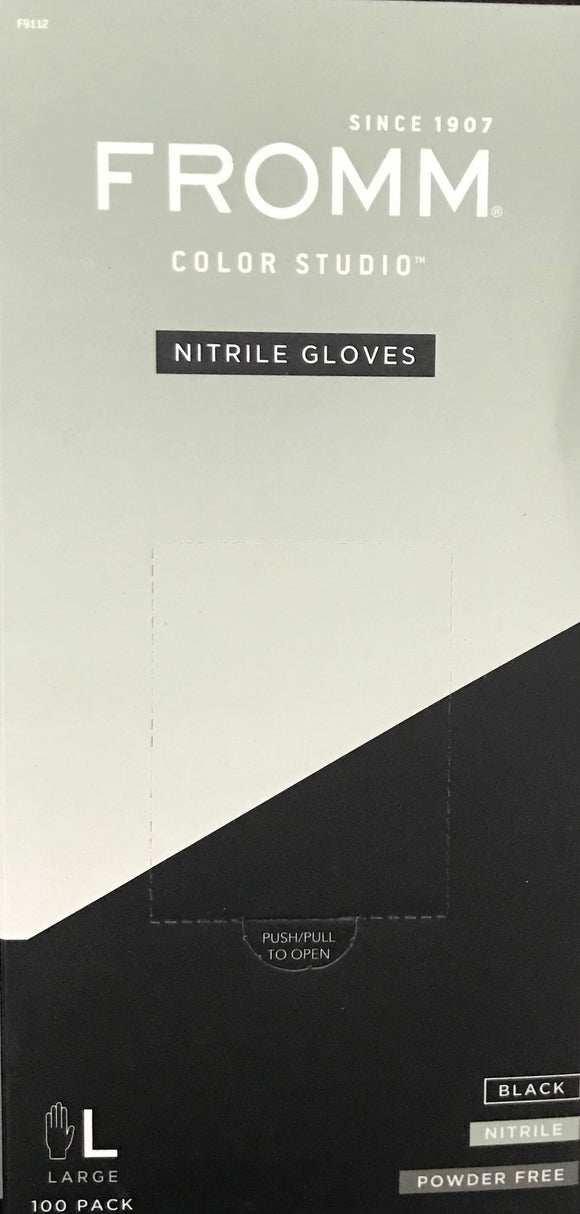 Diane 100-Pack Powder-Free Nitrile Gloves in Black - 3 Size